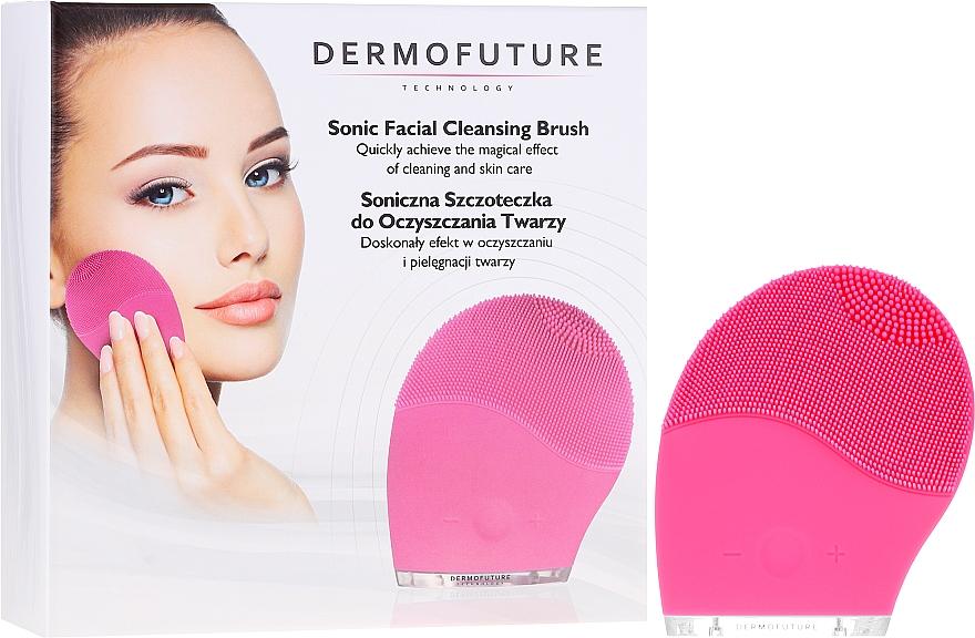 Spazzola per la pulizia del viso, rosa - Dermofuture
