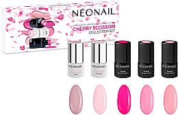 Profumi e cosmetici Set - NeoNail Professional Cherry Blossom Collection Set (nail/polish/3mlx3 + base/3mlx2)