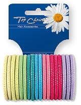 Elastici per capelli 18 pz, multicolore, 22180 - Top Choice — foto N1