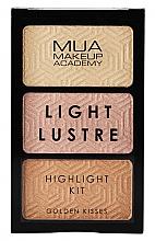 Profumi e cosmetici Palette illuminante viso - MUA Light Lustre Trio Highlight (Golden Kisses)