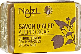 "Profumi e cosmetici Sapone di Aleppo ""Limone"" - Najel Aleppo Soap Invigorating Soap With Lemon"