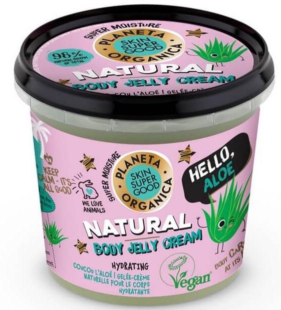 """Crema-gelatina per corpo """"Hello Aloe"""" - Planeta Organica Natural Body Jelly Cream Hello Aloe"""
