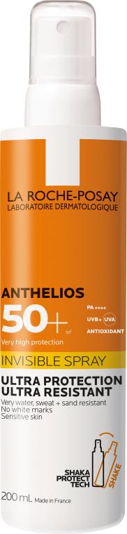 Crema solare ultra leggera per viso e corpo SPF50 + - La Roche-Posay Anthelios Invisible Spray