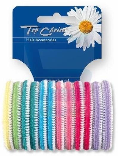 Elastici capelli 12 pz, multicolore - Top Choice 22234