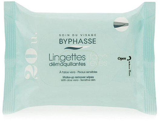 Salviette struccanti, 20 pz - Byphasse Aloe Vera Make-up Remover Wipes Sensitive Skin