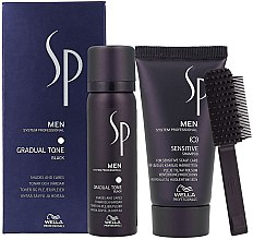 Profumi e cosmetici Set - Wella SP Men Gradual Tone Black (hair/mousse/60ml+shmp/30ml)