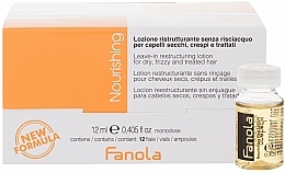 Profumi e cosmetici Fiale per ristrutturare i capelli secchi - Fanola Leave-In Restructuring Lotion
