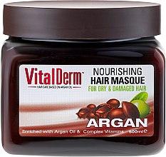 Profumi e cosmetici Maschera per capelli colorati - VitalDerm Argana Restoring Hair Mask