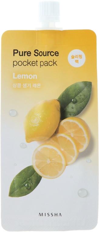 Maschera con estratto di limone da notte - Missha Pure Source Pocket Pack Lemon