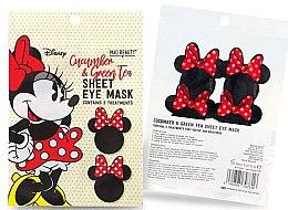 """Profumi e cosmetici Maschera in tessuto contorno occhi """"Cetriolo e tè verde"""" - Mad Beauty Disney Minnie Mouse Sheet Eye Mask"""