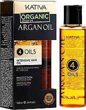 """Concentrato rigenerante e protettivo per capelli """"4 oli"""" - Kativa Argan Oil — foto N4"""