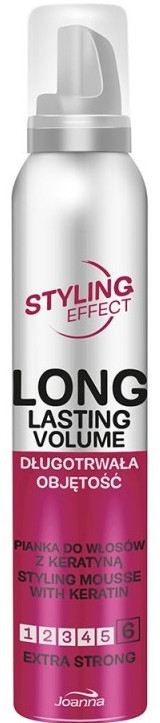 Mousse con cheratina per capelli, tenuta extra forte - Joanna Styling Effect Styling Mousse With Keratin Extra Strong — foto N1