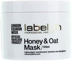 """Profumi e cosmetici Maschera nutriente per capelli secchi e disidratati """"Miele e Avena"""" - Label.m Nourishing Mask Honey and Oats"""