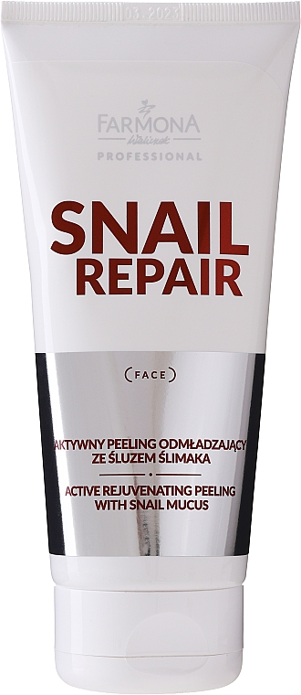 Peeling attivo antietà alla bava di lumaca - Farmona Professional Snail Repair Active Rejuvenating Peeling With Snail Mucus