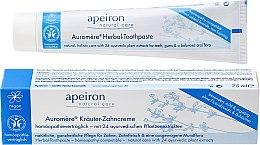 Profumi e cosmetici Dentifricio omeopatico - Apeiron Herbal Toothpaste Homeopathic