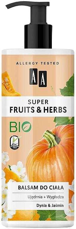 """Lozione per il corpo """"Zucca e gelsomino"""" - AA Super Fruits & Herbs"""