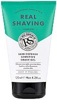 Profumi e cosmetici Gel da barba per pelli sensibili - The Real Shaving Co. Skin Defence Sensitive Shave Gel