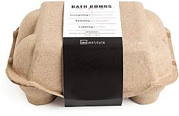 Profumi e cosmetici Set bombe da bagno - IDC Institute Pure Energy Bath Bombs Lavender & Passion Fruit & Lotus (6x70g)