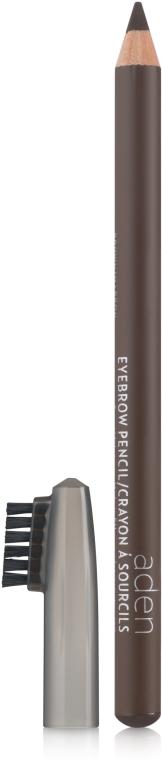 Matita per sopracciglia con spazzola - Aden Cosmetics Eyebrow Pencil