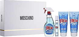 Profumi e cosmetici Moschino Fresh Couture - Set (edt/100ml + edt/10ml + b/lot/100ml + sh/gel/100ml)