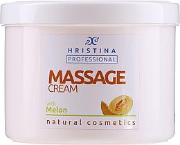 Profumi e cosmetici Crema da massaggio al melone - Hristina Professional Massage Cream With Melon