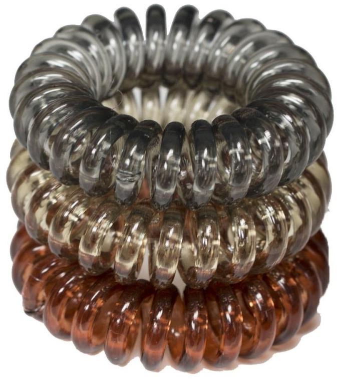 Elastici a spirale per capelli, 3,5 cm - Ronney Professional S19 MET — foto N1