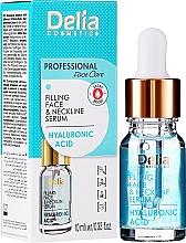 Siero antirughe viso e collo, con acido ialuronico - Delia Face Care Hyaluronic Acid Face Neckline Intensive Serum — foto N2