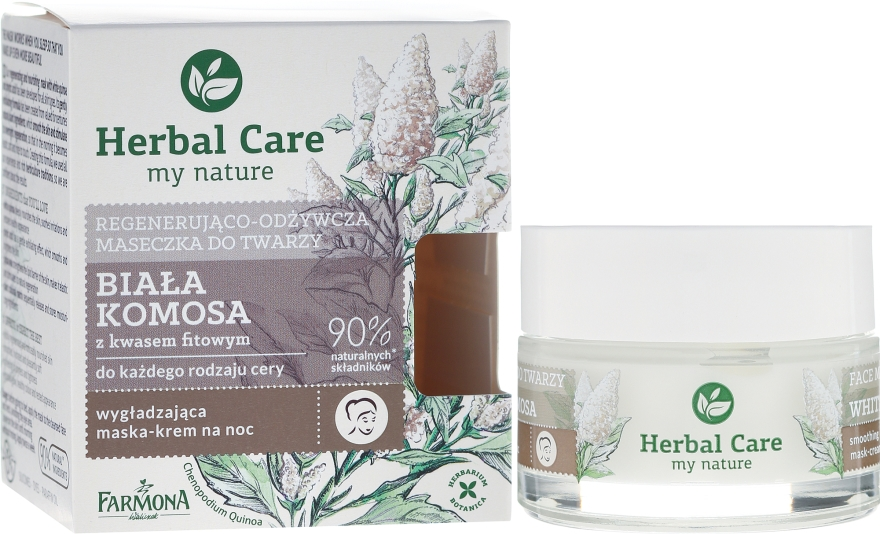 Maschera viso restitutiva e nutriente - Farmona Herbal Care