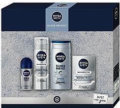 Profumi e cosmetici Set - Nivea Men Silver Protect 2020 (balm/100ml + foam/200ml + shower/gel/250ml + deo/50ml)