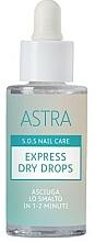 Profumi e cosmetici Asciuga smalto a gocce - Astra Make-up Sos Nails Care Express Dry Drops