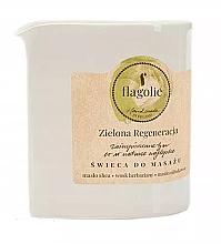 """Profumi e cosmetici Candela da massaggio """"Verde rivitalizzante"""" - Flagolie Green Regeneration Massage Candle"""