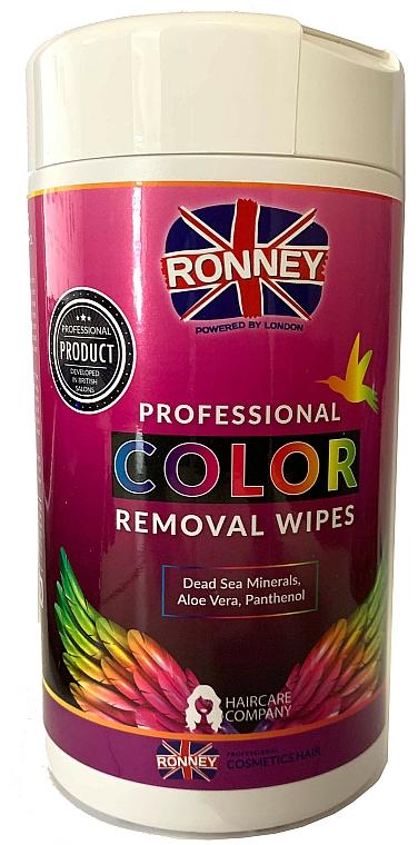 Salviette per rimuovere la tinta dalla pelle - Ronney Profesional Color Removal Wipes