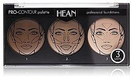 Profumi e cosmetici Palette contorno viso tre colori - Hean Pro-Countour Palette