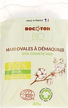Profumi e cosmetici Dischetti di cotone per bambini, ovali, 40 pezzi - Bocoton Bio