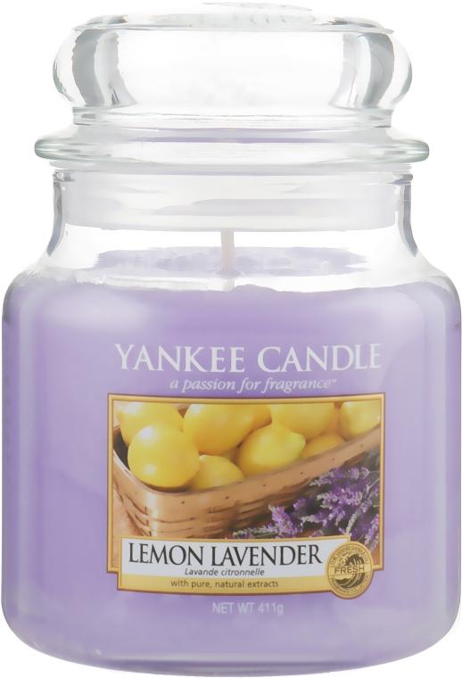 "Candela profumata in vetro ""Limone Lavanda"" - Yankee Candle Lemon Lavender"