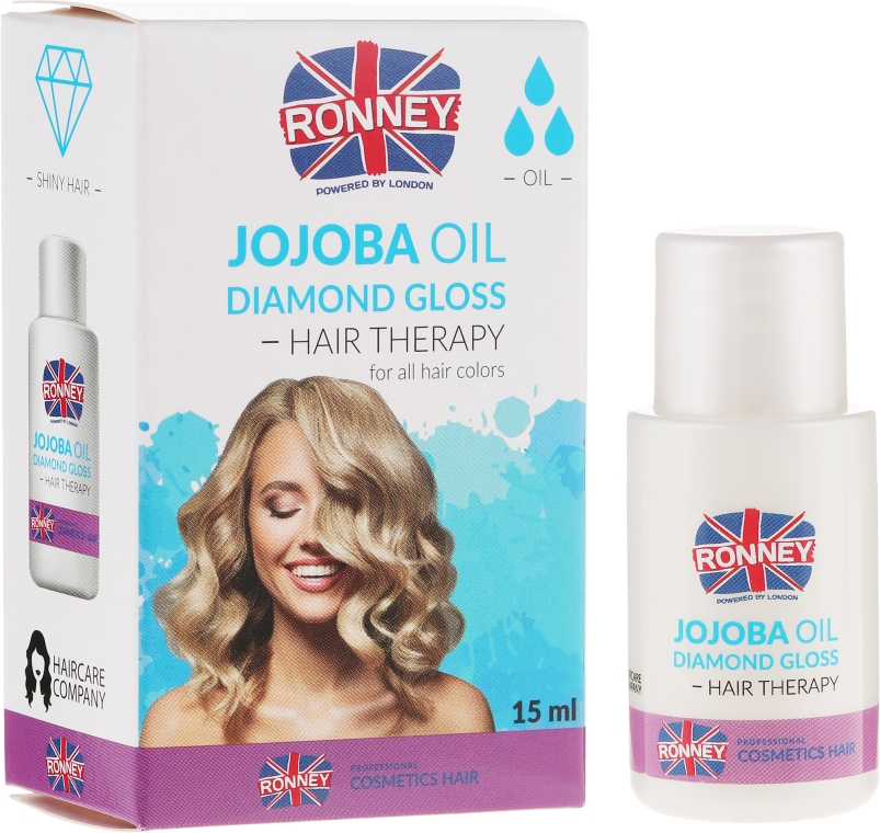Olio di jojoba per capelli - Ronney Jojoba Oil Diamond Gloss Hair Therapy