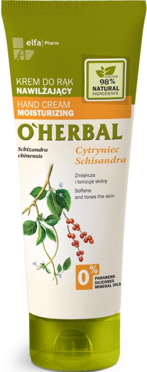 Crema mani idratante con estratto di citronella - O'Herbal Moisturizing Hand Cream With Schisandra Extract — foto N1