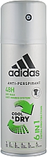 Profumi e cosmetici Deodorante - Adidas Anti-Perspirant Cool&Dry 6 in 1 48H