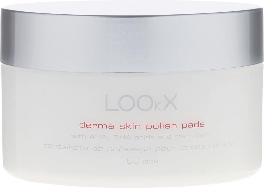 Polish Pads con acidi AHA e BHA per il viso - LOOkX Derma Skin Polish Pads — foto N1