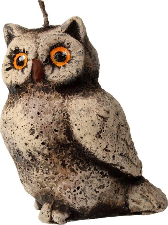 Candela profumata, 5x8 cm, gufo marrone - Artman Owl