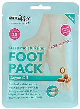 Profumi e cosmetici Maschera piedi emolliente - Derma V10 Foot Mask Argan Oil