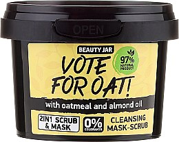Profumi e cosmetici Maschera-scrub purificante - Beauty Jar Vote For Oat! Cleansing Mask-Scrub