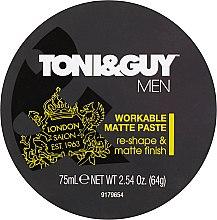 Profumi e cosmetici Pasta modellante con effetto opacizzante - Toni & Guy Men Workable Matte Paste