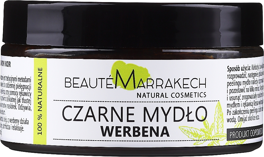 "Sapone nero naturale ""Verbena"" - Beaute Marrakech Savon Noir Moroccan Black Soap"