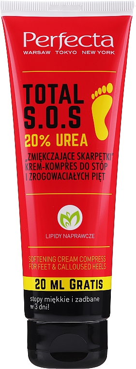 Crema emoliente piedi - Perfecta Total S.O.S. 20% Urea