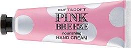 "Profumi e cosmetici Crema mani nutriente ""Pink Breeze"" - Duft & Doft Nourishing Hand Cream Pink Breeze Peach & Peony"