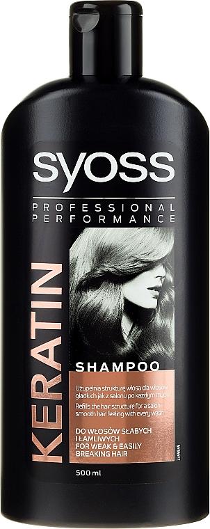 Shampoo per capelli secchi e senza vita - Syoss Keratin Hair Perfection