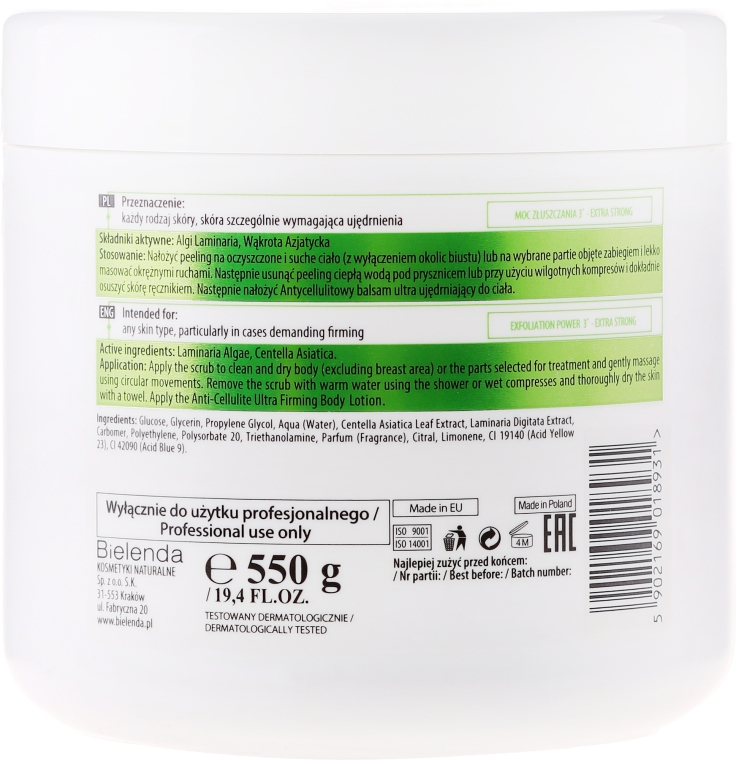 Scrub per il corpo anticellulite - Bielenda Professional Body Program Anti-Cellulite Ultra Firming Body Scrub — foto N2