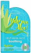 Profumi e cosmetici Maschera viso lenitiva - Dewytree Help Me Aloe! Soothing Mask