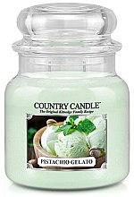 Profumi e cosmetici Candela profumata in vetro - Country Candle Pistachio Gelato